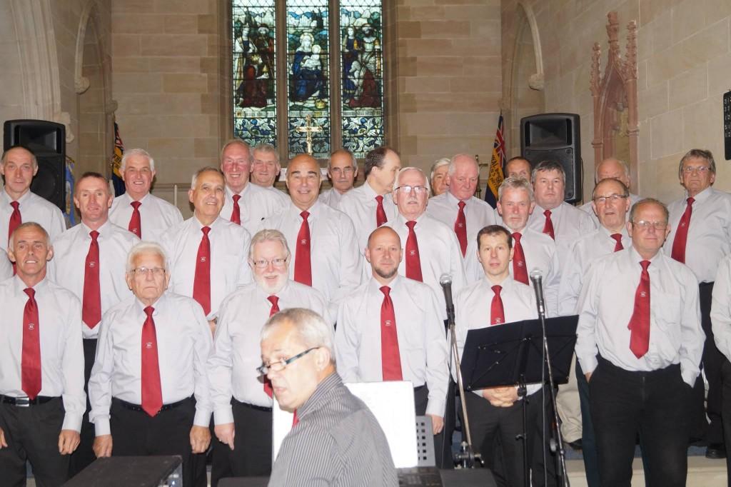 posing choir
